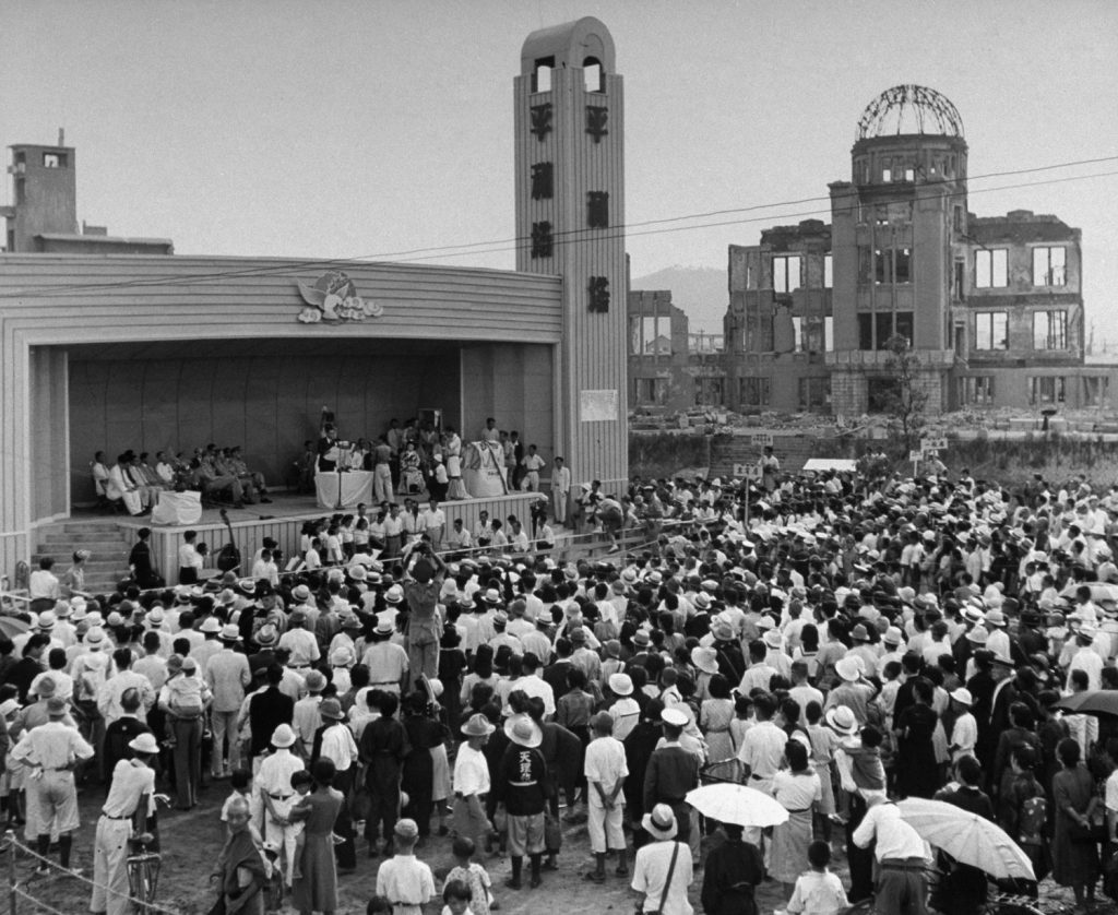 """A """"Peace Festival"""" in Hiroshima Japan, on the anniversary of the United States' August 1945 atomic attack on the city."""