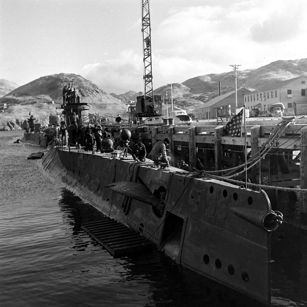 Dutch Harbor, Aleutian Islands, WWII, 1943.