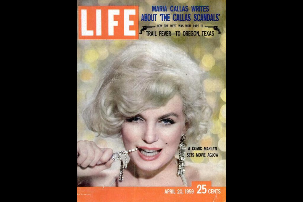 LIFE Magazine, April 20, 1959. Marilyn Monroe photographed by Richard Avedon.
