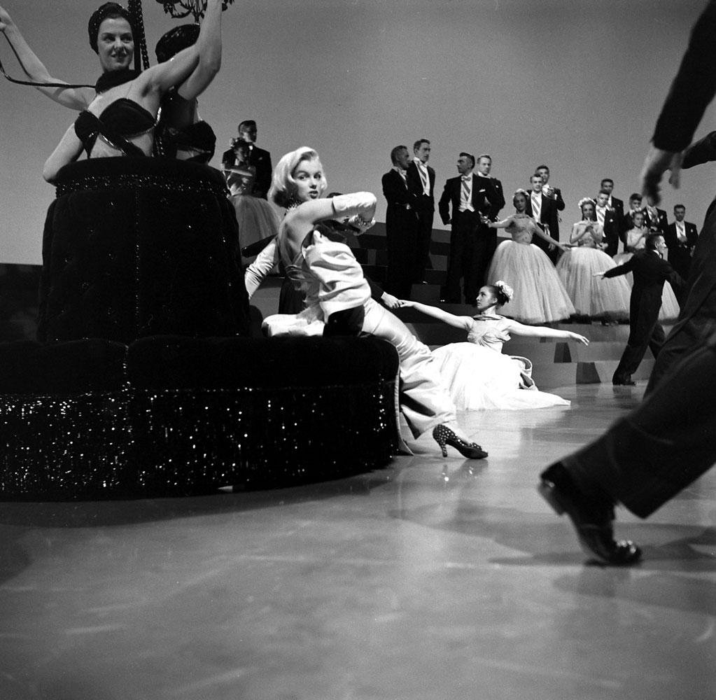 Marilyn Monroe, on the set of Gentleman Prefer Blondes