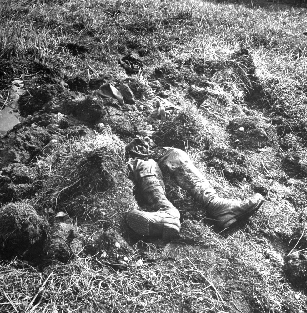 The remains of a Japanese soldier, Aleutian Islands Campaign, Alaska, 1943.