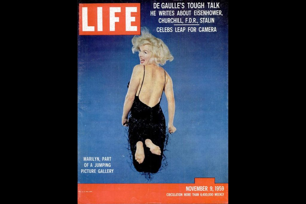 LIFE Magazine, November 9, 1959. Marilyn Monroe, photographed by Philippe Halsman.