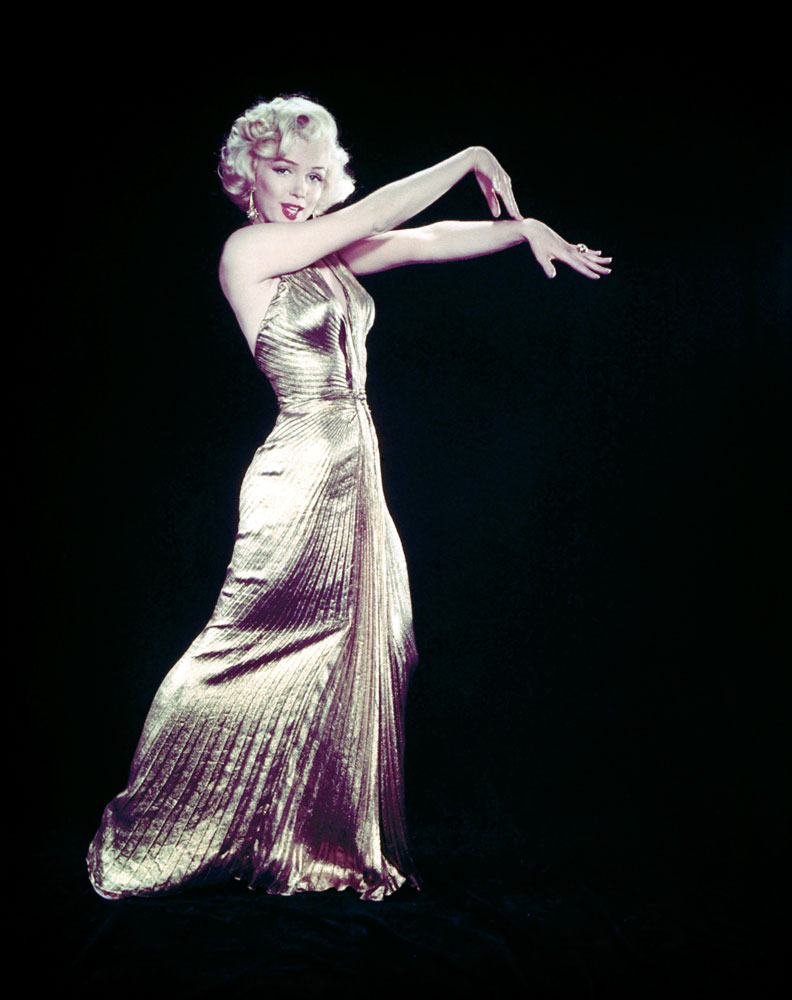 Marilyn Monroe on the set of Gentleman Prefer Blondes