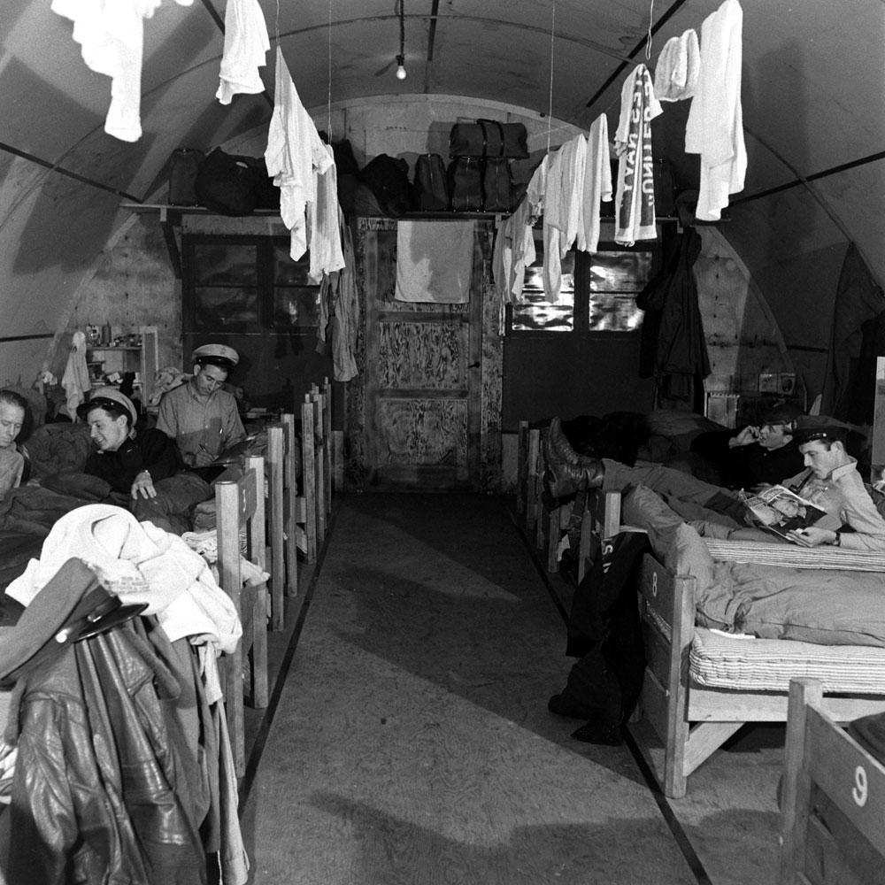 Barracks, Aleutian Islands Campaign, Alaska, 1943.