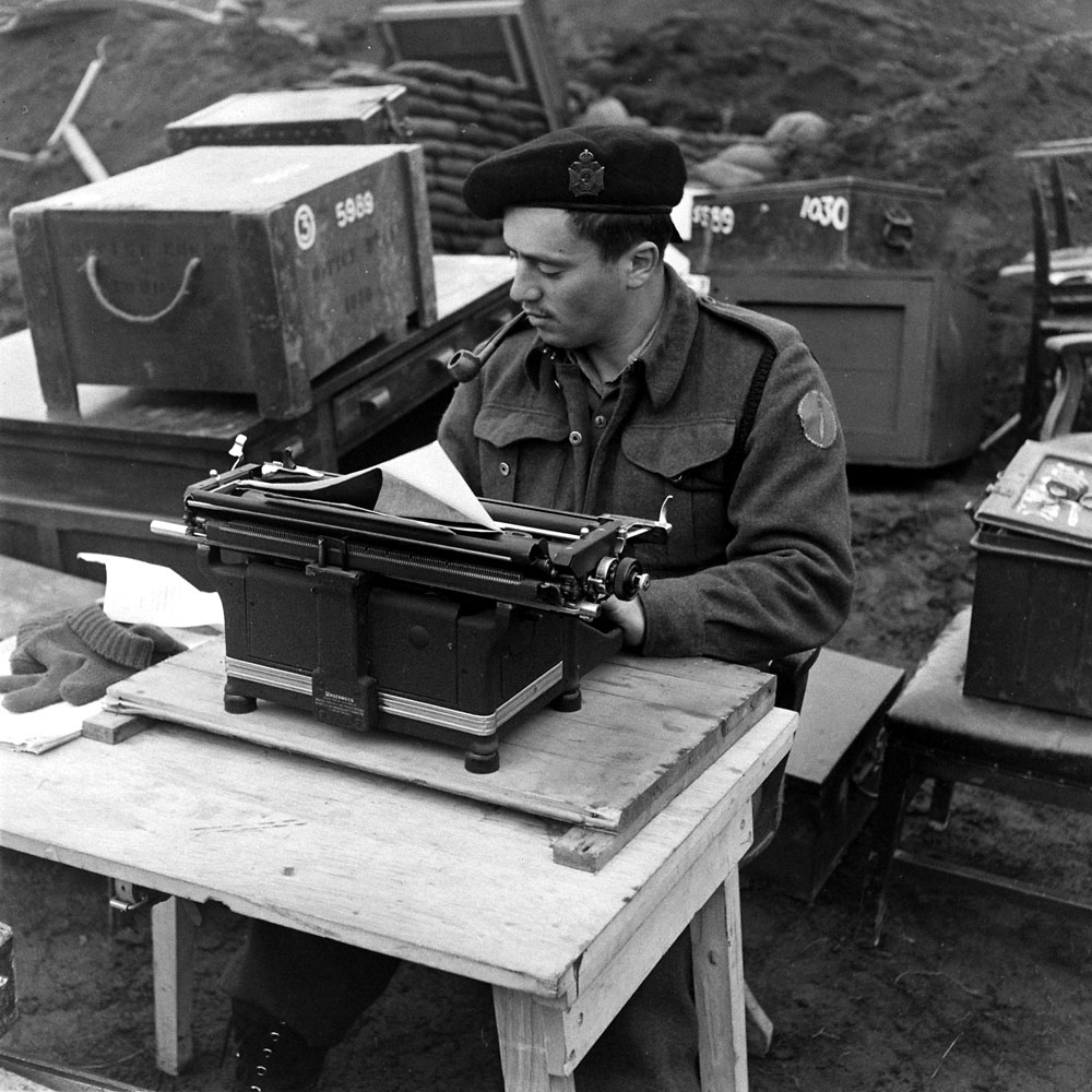Unidentified military personnel, Aleutian Islands Campaign, Alaska, 1943.