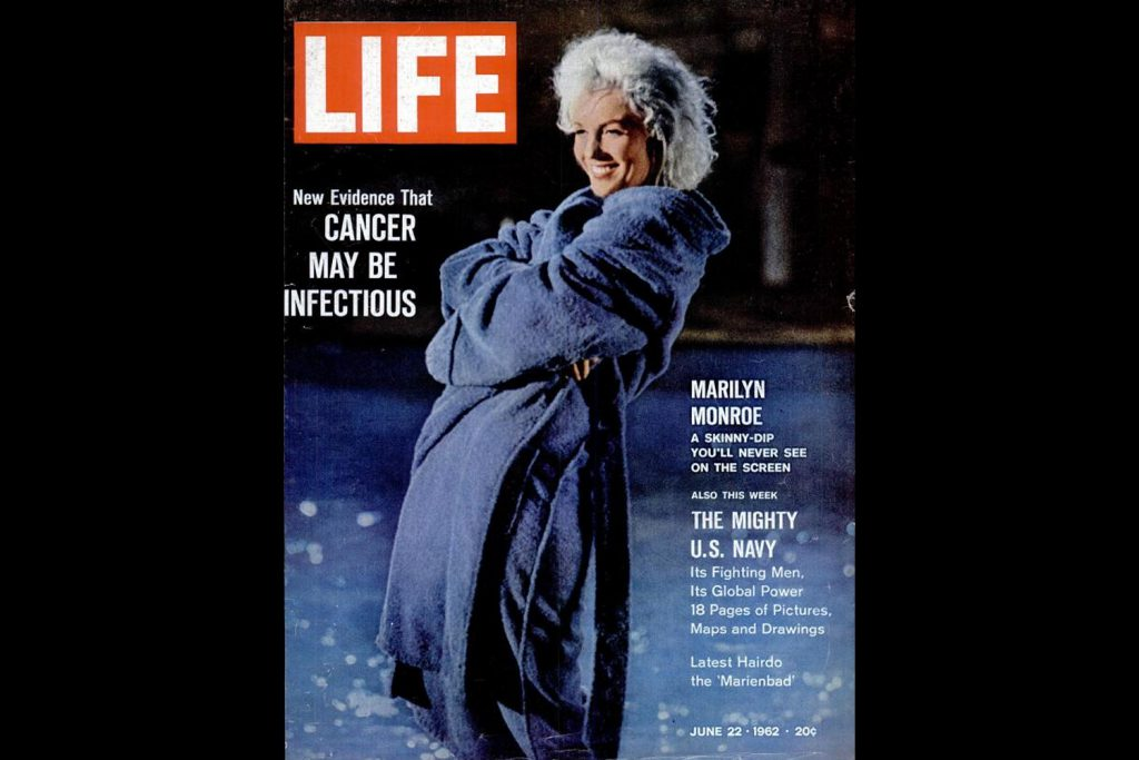 LIFE Magazine, August 15, 1960. Marilyn Monroe, photographed by Lawrence Schiller.