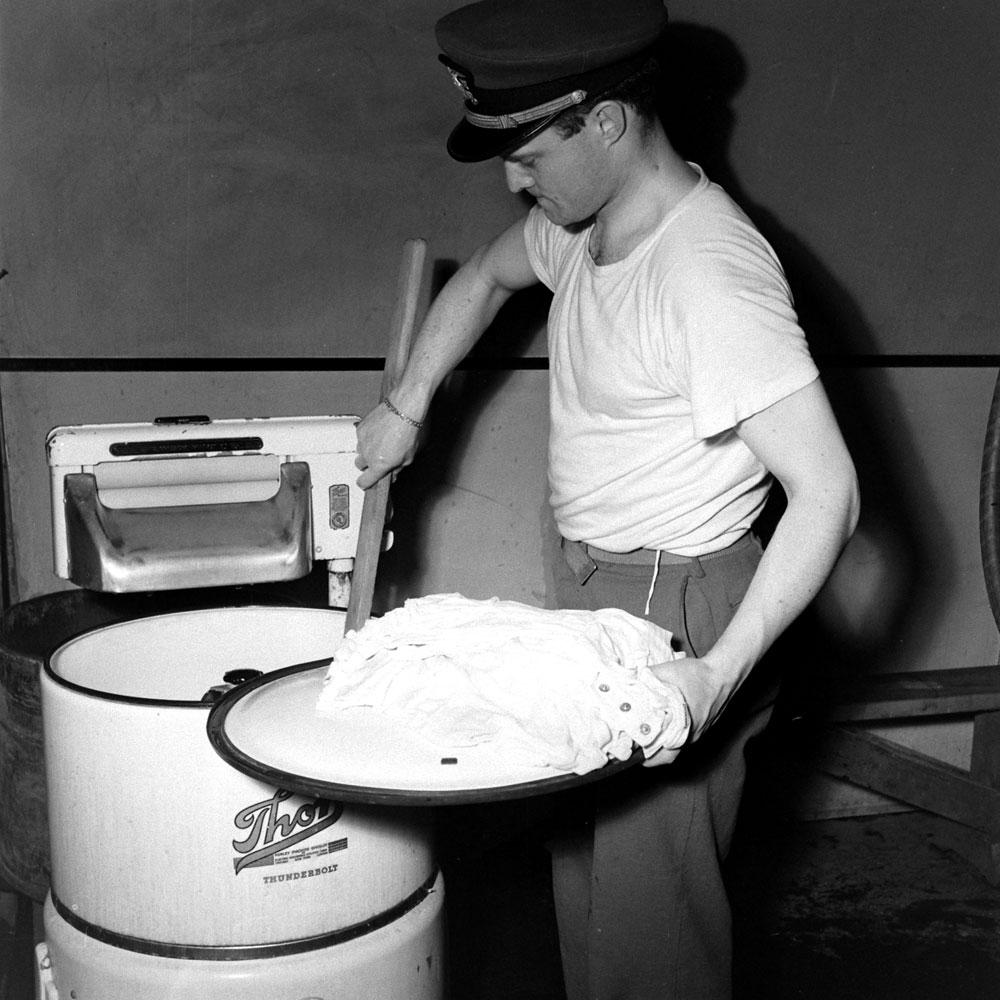 Laundry, Aleutian Islands Campaign, Alaska, 1943.