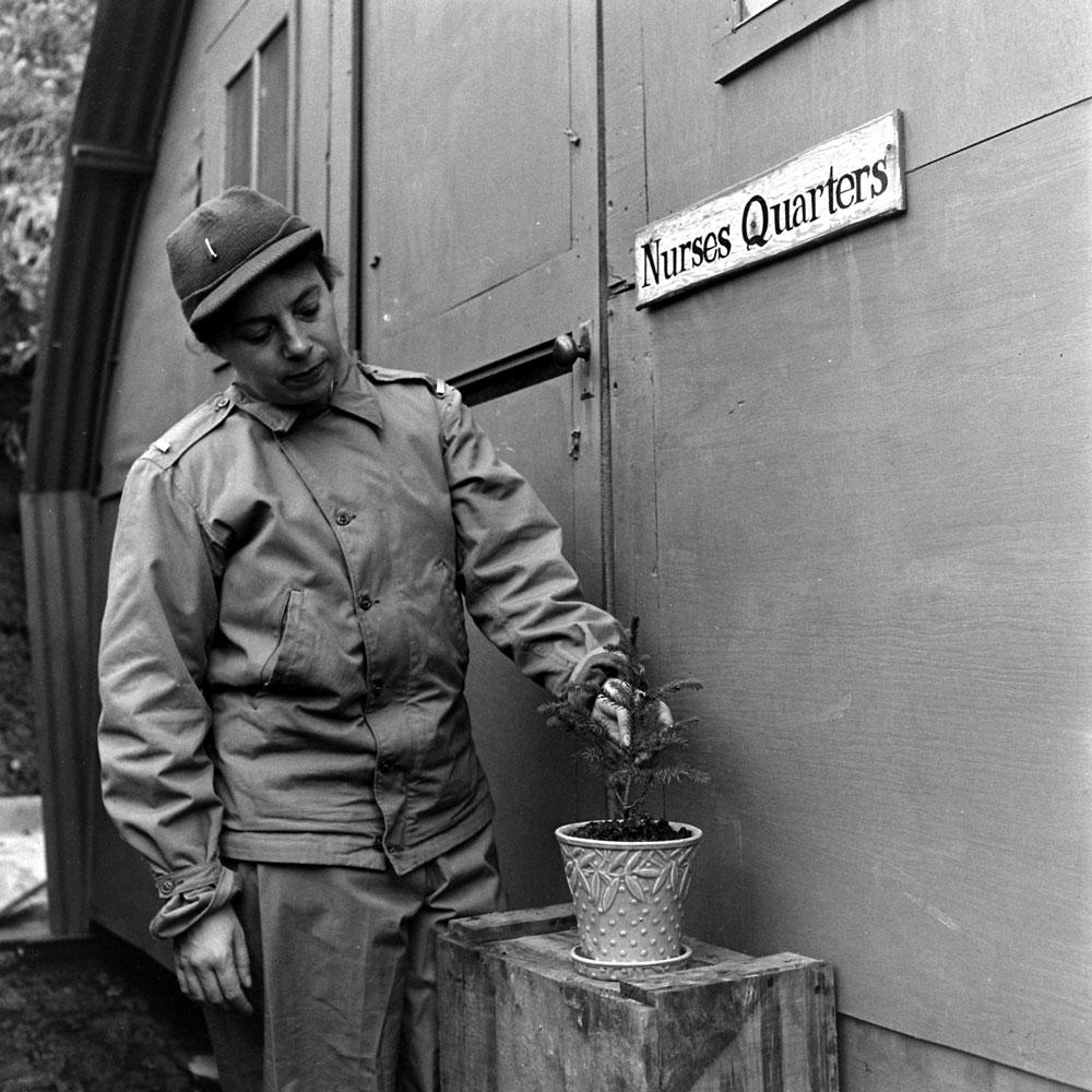 Nurses' quarters, Aleutian Campaign, Alaska, 1943.