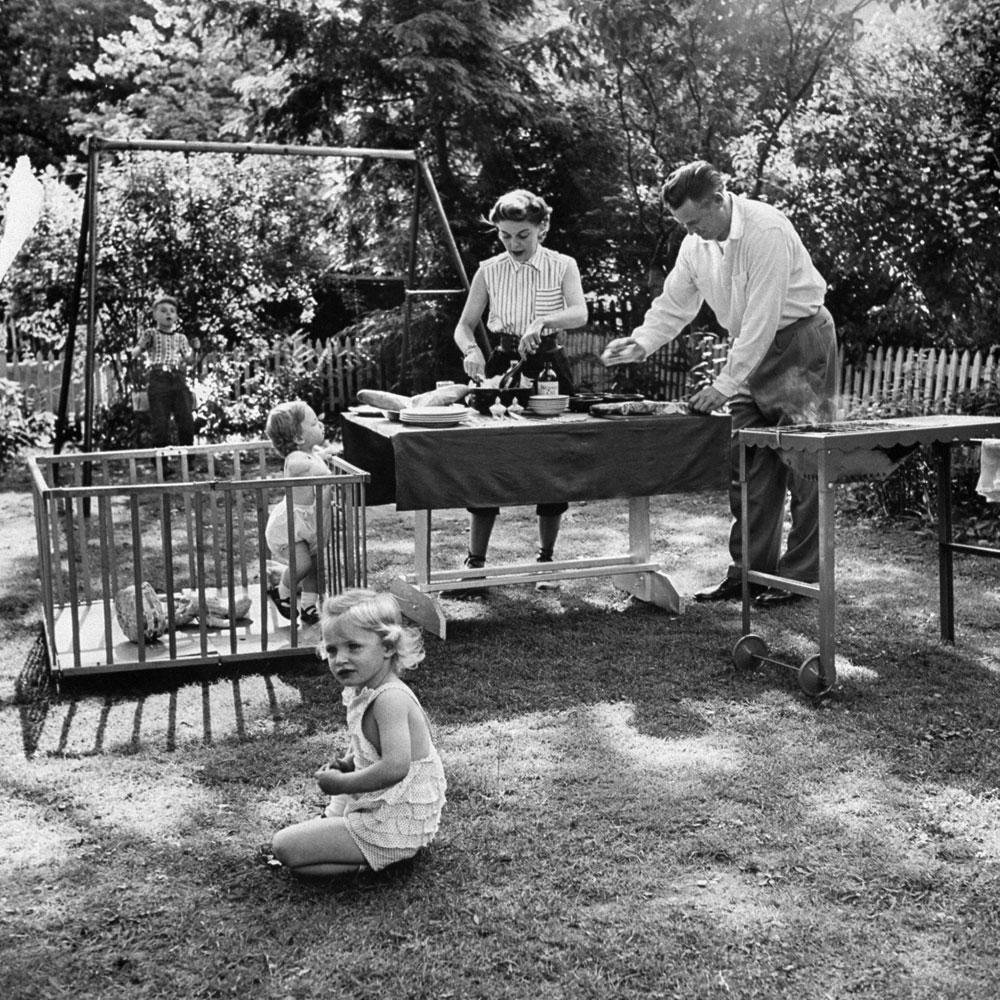 Backyard barbecue, 1953.