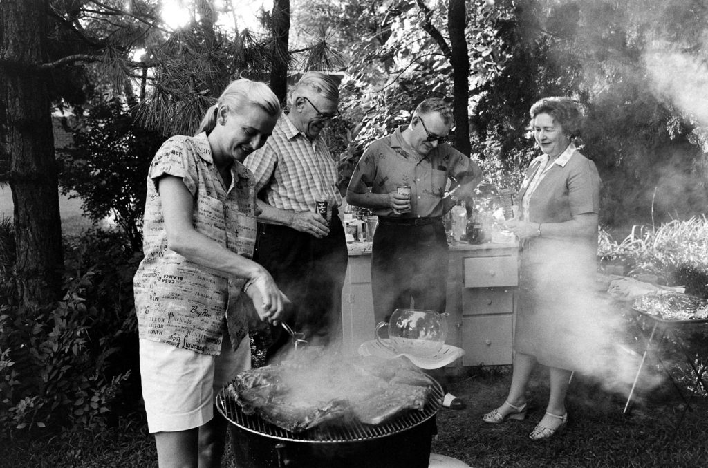 One of only thirteen American women   known as the Mercury 13   to participate in NASA's Mercury space program, Jerrie Cobb (left) barbecues in 1959.