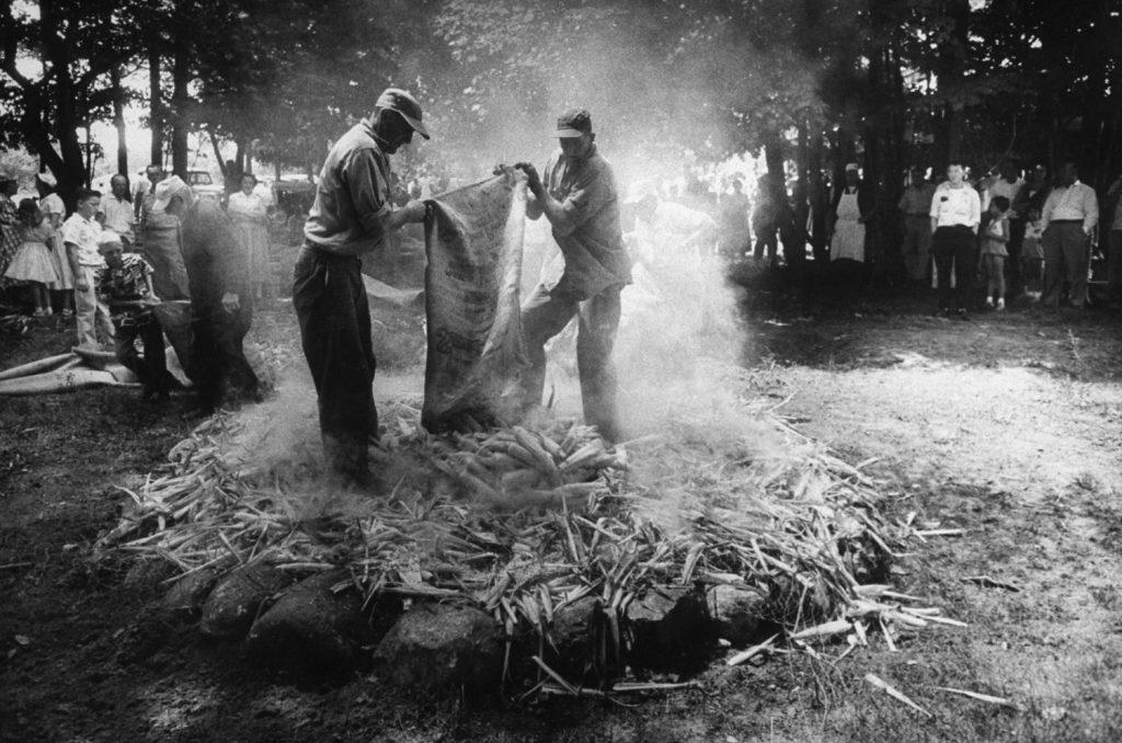 Vermont barbecue, 1957.