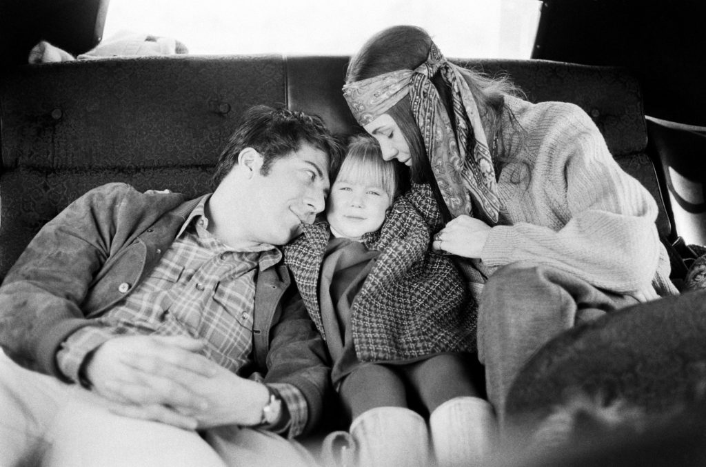 Dustin Hoffman with his wife Anne and daughter Karina, New York, 1969.