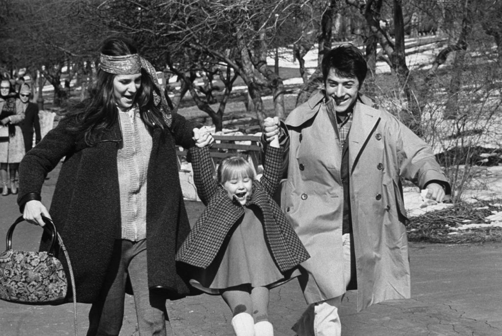 Dustin Hoffman and family, New York, 1969.