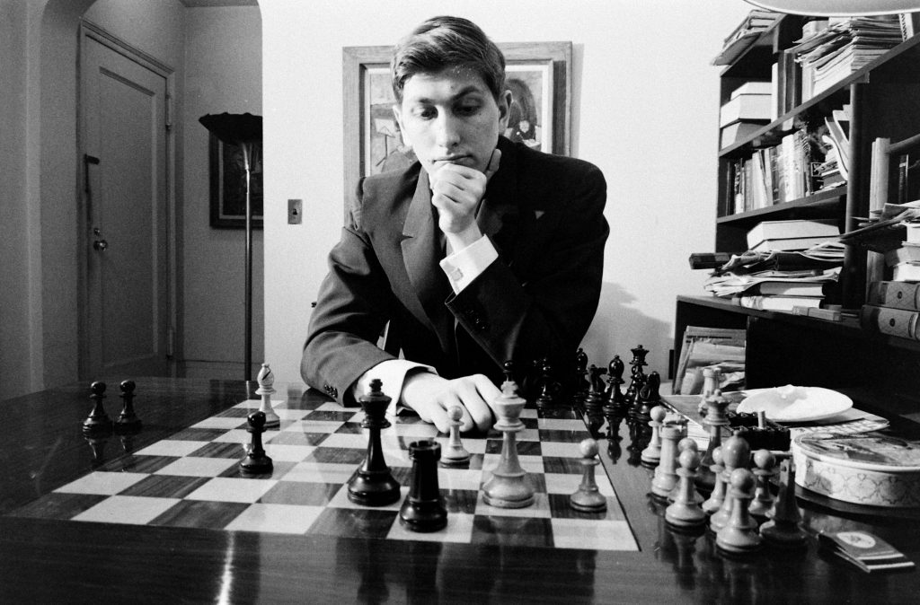 Bobby Fischer in New York, 1962.