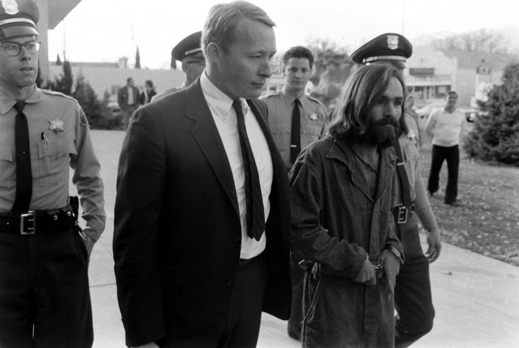 Charles Manson in custody, 1969.