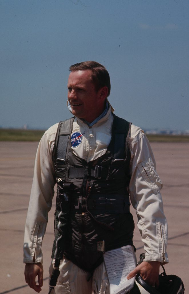 Neil Armstrong training for the Apollo 11 moon mission, Ellington Air Force Base, Texas, 1968.