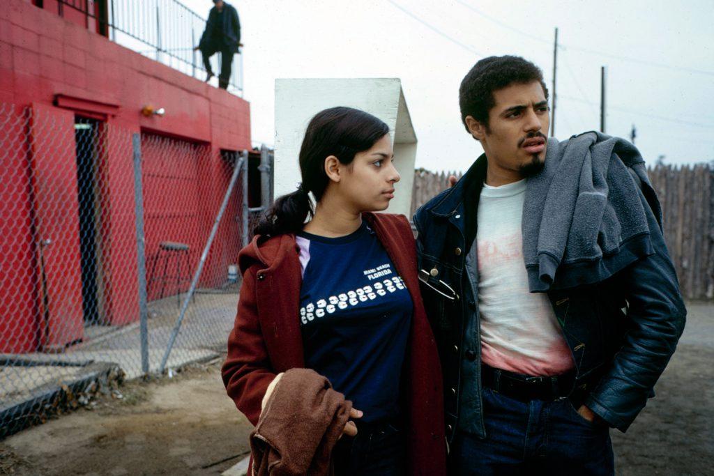 Eddie Cuevas, president of the Reapers street gang, with his girlfriend Yvette, South Bronx, 1972.