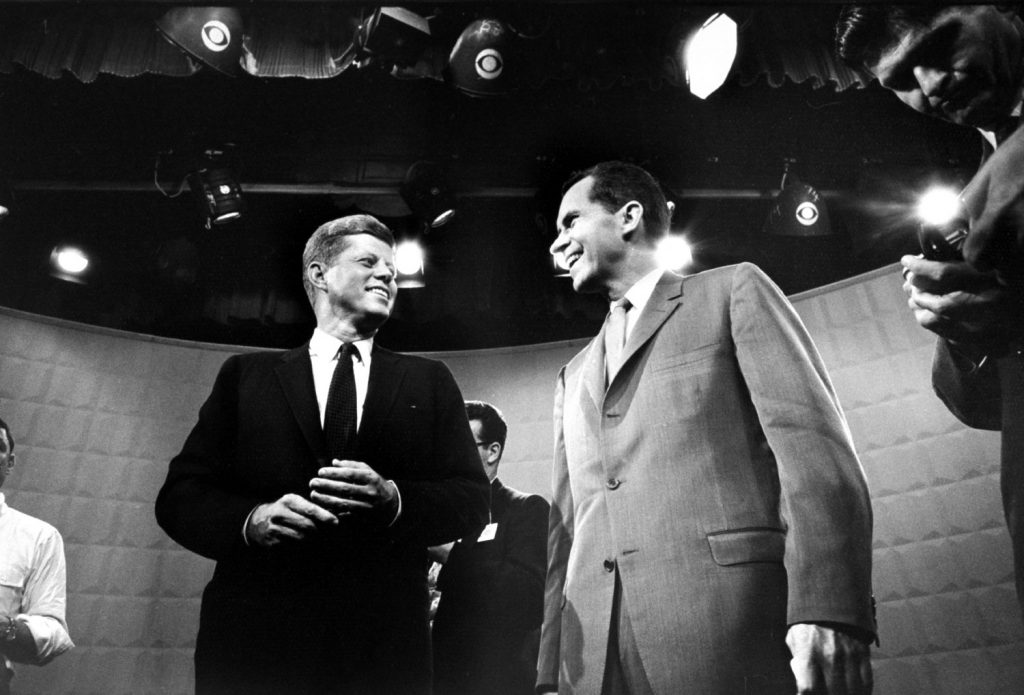 Photo made prior to the first Kennedy-Nixon debate, 1960.