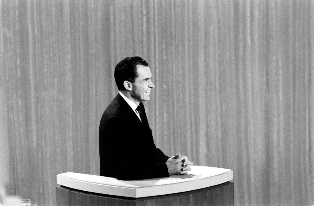 Richard Nixon during the Kennedy-Nixon debates, 1960.