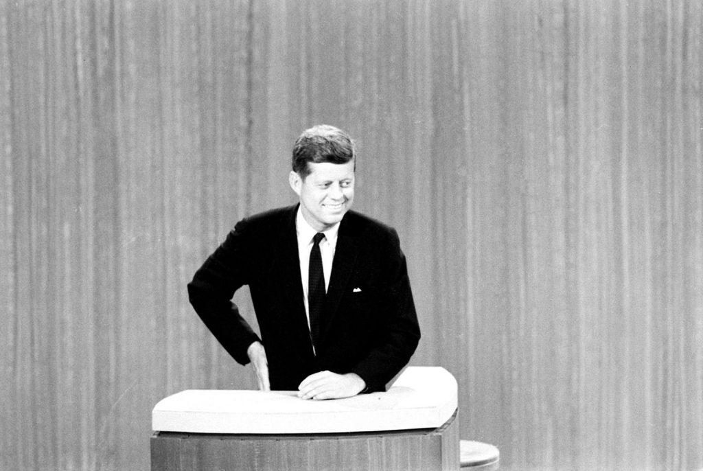 John F. Kennedy during the Kennedy-Nixon debates, 1960.