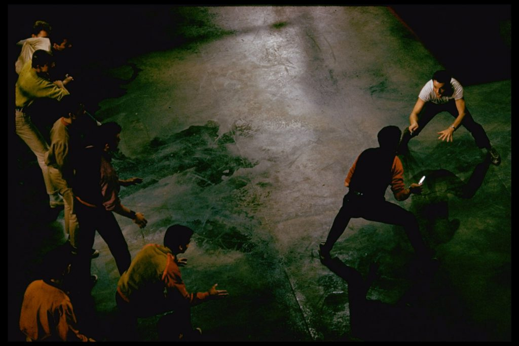 """Scene from the set of the 1961 movie,""""West Side Story."""""""