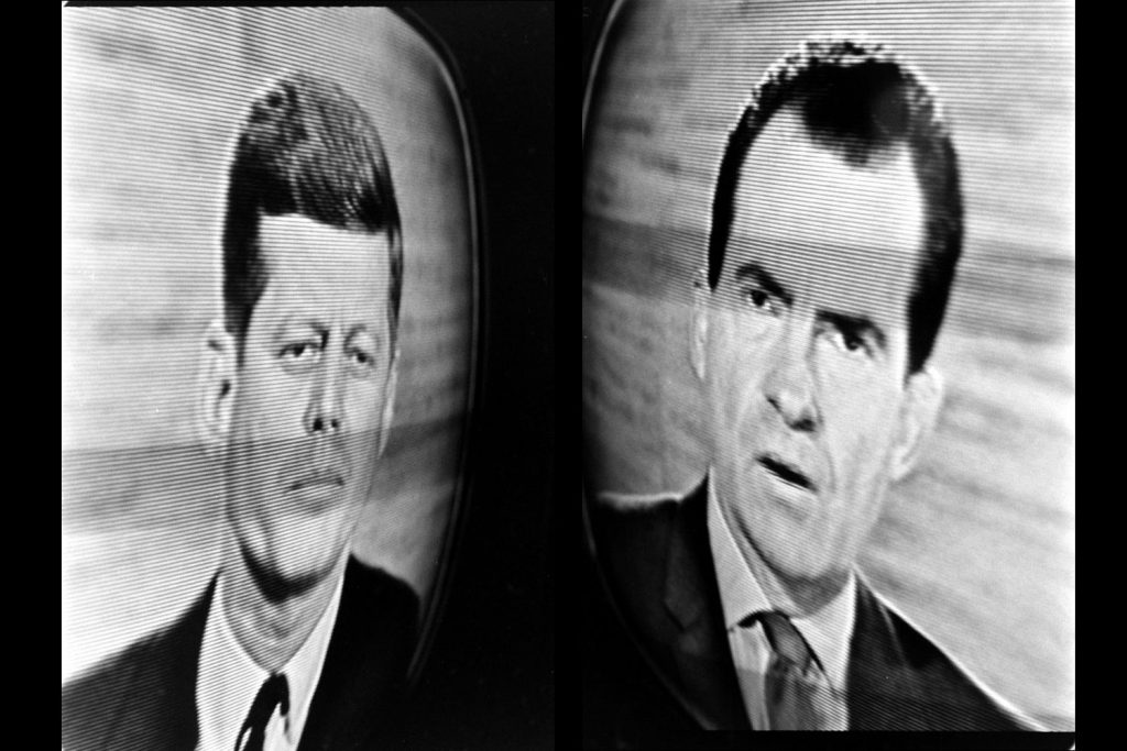 Two images made during the Kennedy-Nixon debates, 1960.
