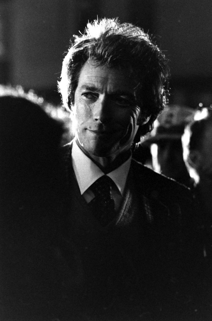 Clint Eastwood on the set of the 1971 movie, Dirty Harry.