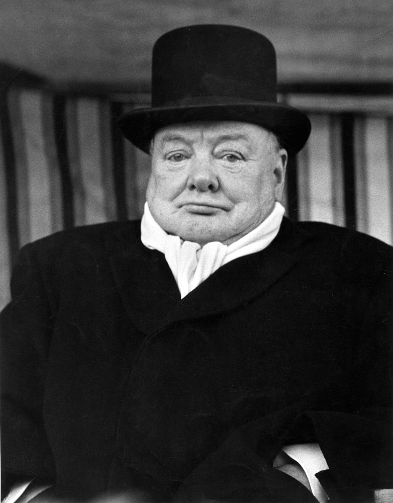 Winston Churchill, inscrutable during an election campaign, 1951.