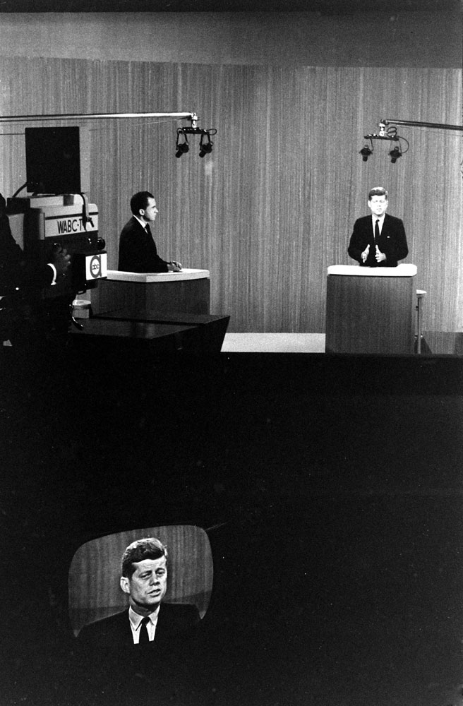 The Kennedy-Nixon debates, 1960.