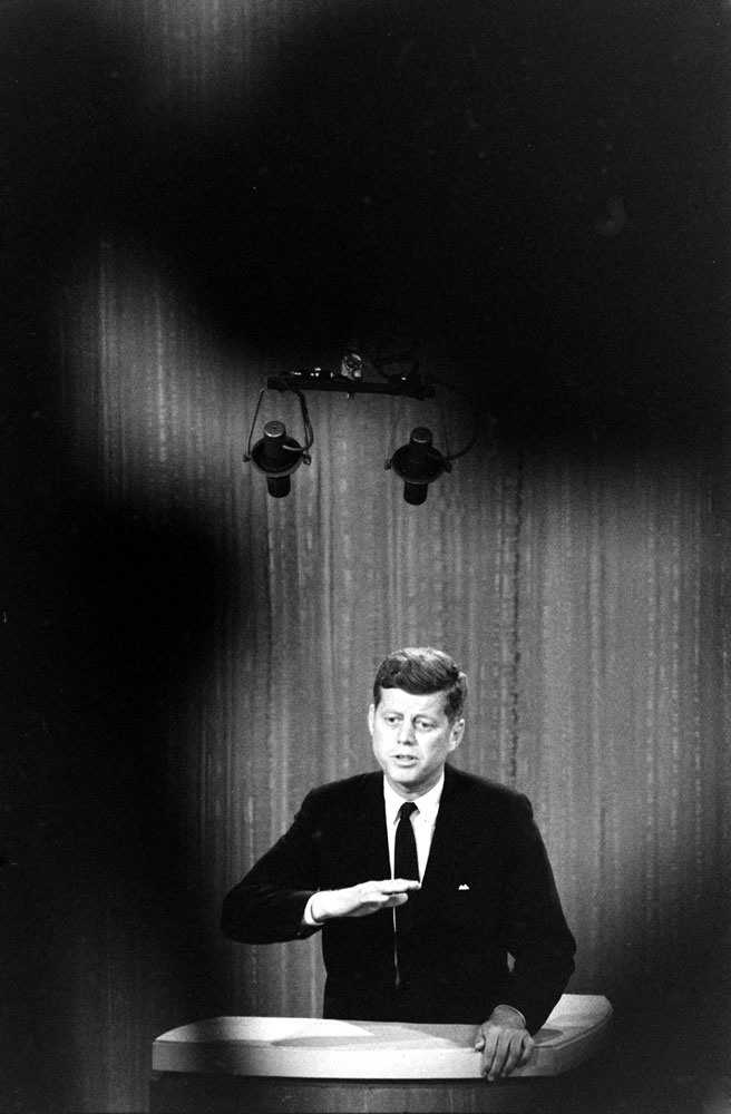 Photo of JFK made during the Kennedy-Nixon debates, 1960.