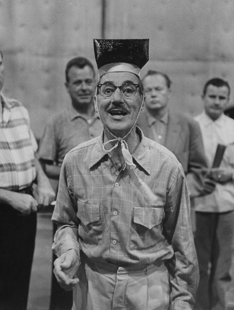 Groucho Marx in rehearsal, 1960.