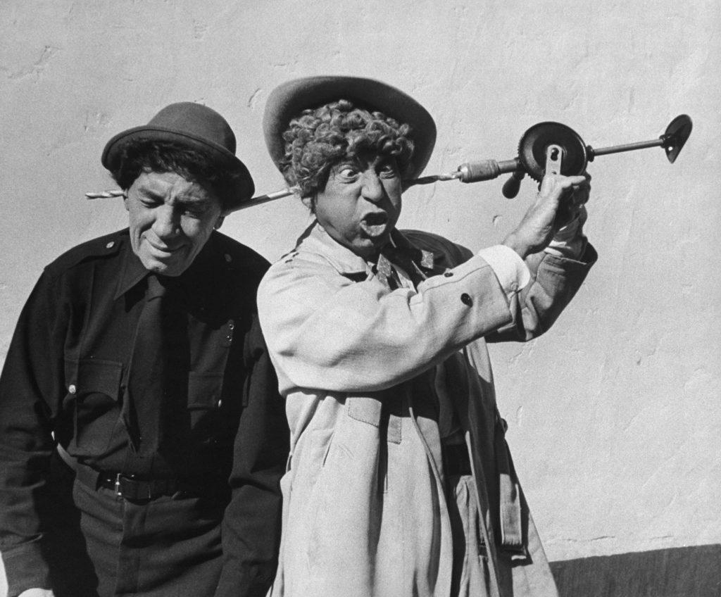 Chico and Harpo Marx, 1959.