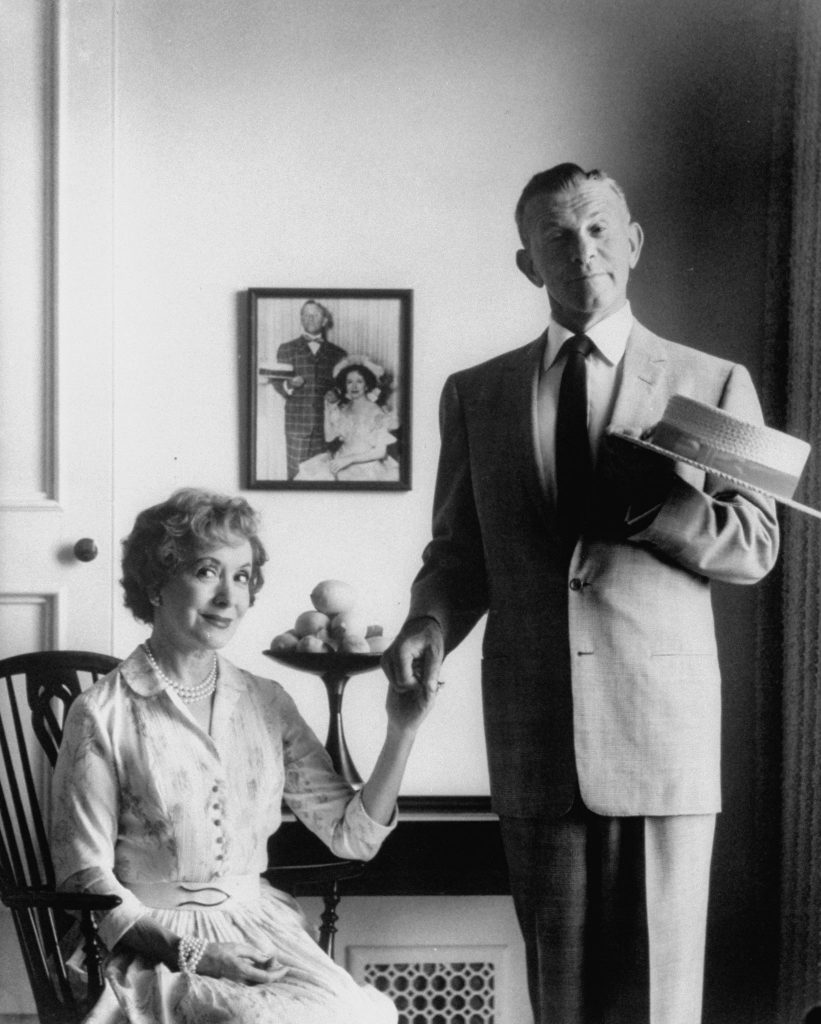 George Burns and his wife, Gracie Allen, 1958.