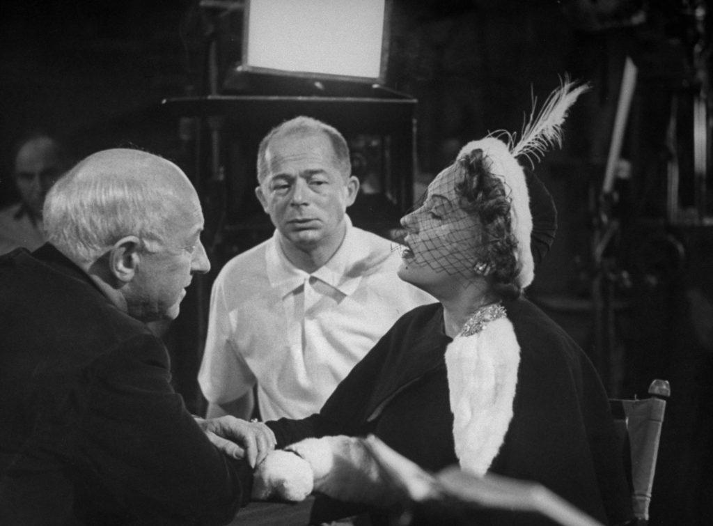 Cecil B. DeMille, Billy Wilder and Gloria Swanson