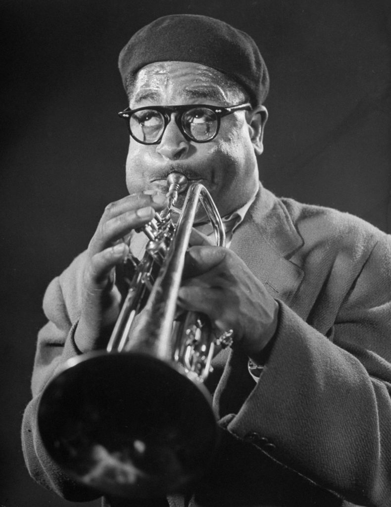 Dizzy Gillespie during a jam session, 1948.
