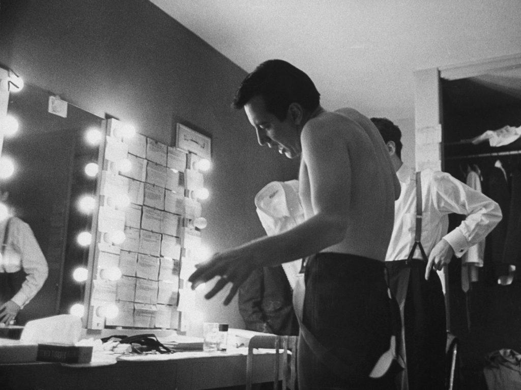 Bobby Darin in his dressing room, 1959.