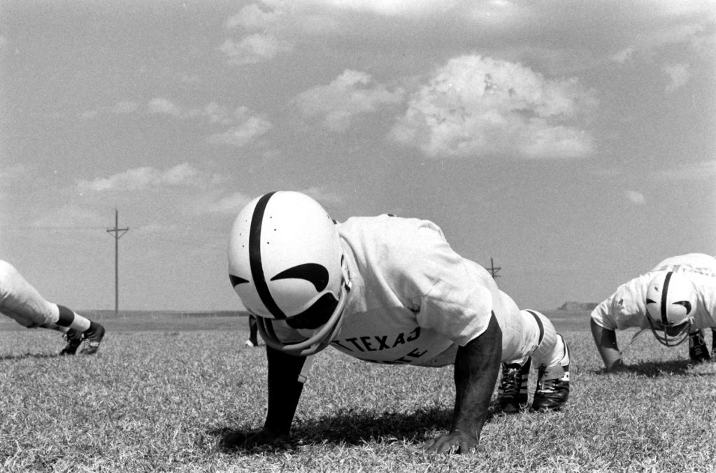 "Eugene ""Mercury"" Morris, West Texas State, 1968."