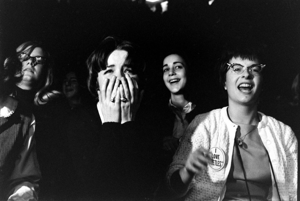 Fans at the first Beatles concert in America, Washington, DC, Feb. 11, 1964.
