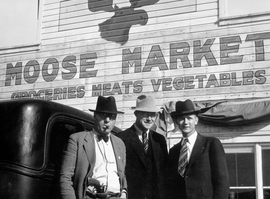 In the Wild West town of Wheeler, near Fort Peck, Montana, Frank Breznik (left) is the law. He used to be a traveling salesman in Atlantic city.