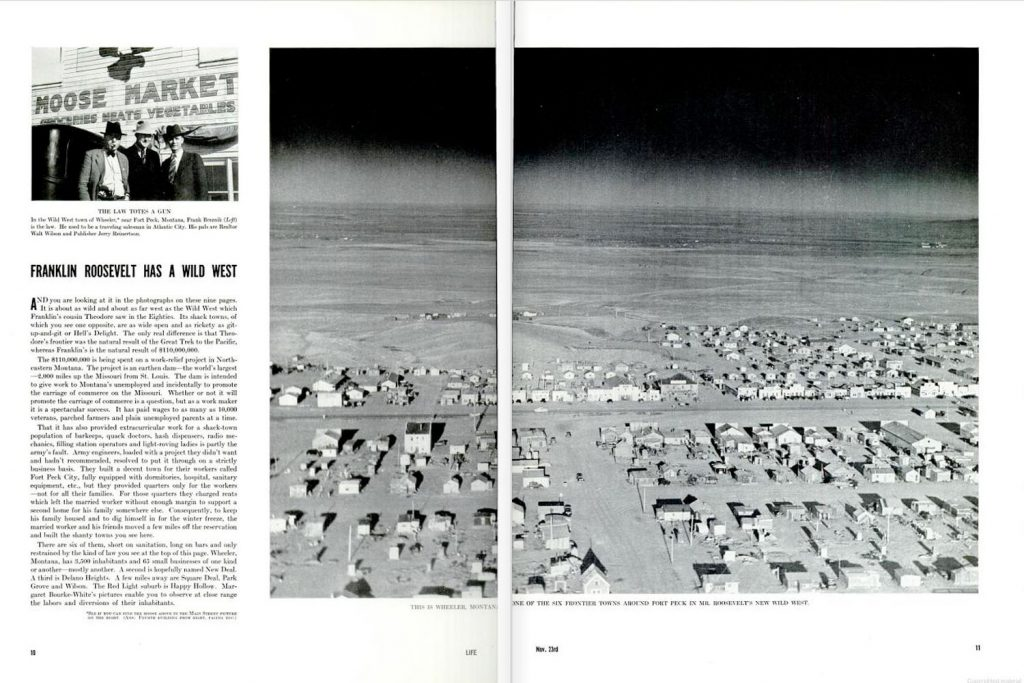 Page spreads from the inaugural, Nov. 23, 1936, issue of LIFE magazine.