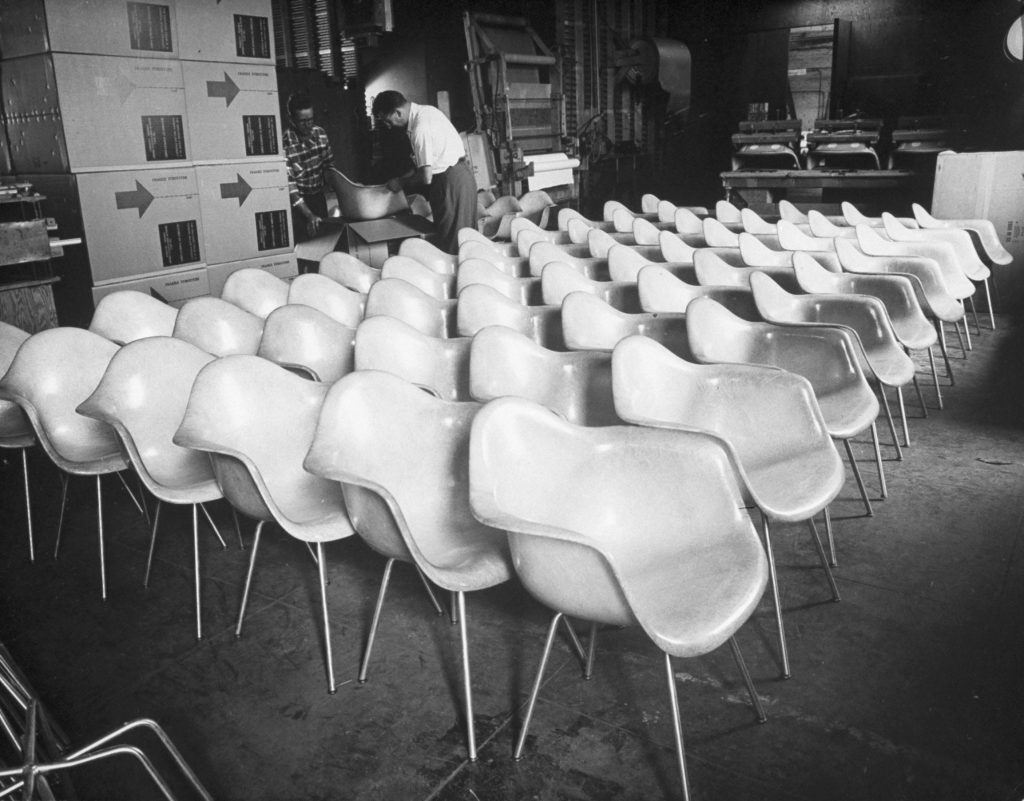 Eames-designed chairs, 1950.