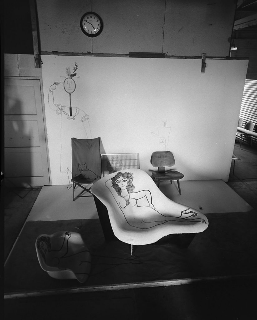Eames-designed (and decorated) chair, 1950.
