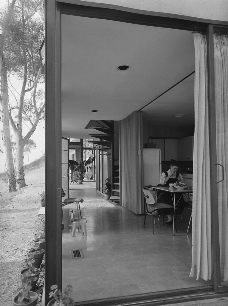 Ray Eames at home in California, 1950.
