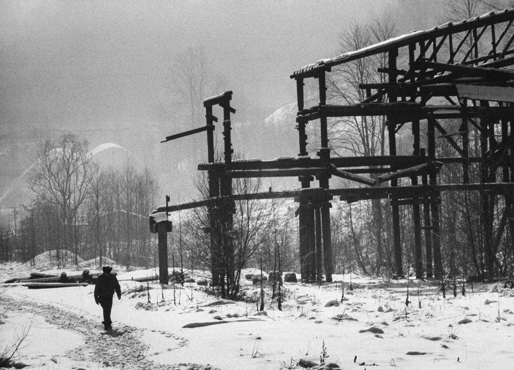 All over Appalachia the ruins of trestles jut from deserted hillside coal mines. This mine, once owned by Thornton Mining Co., was making big money 20 years ago. It paid miners $8.50 a day -- good pay in those days -- and wealth flowed through the valley. The mine closed in 1945.