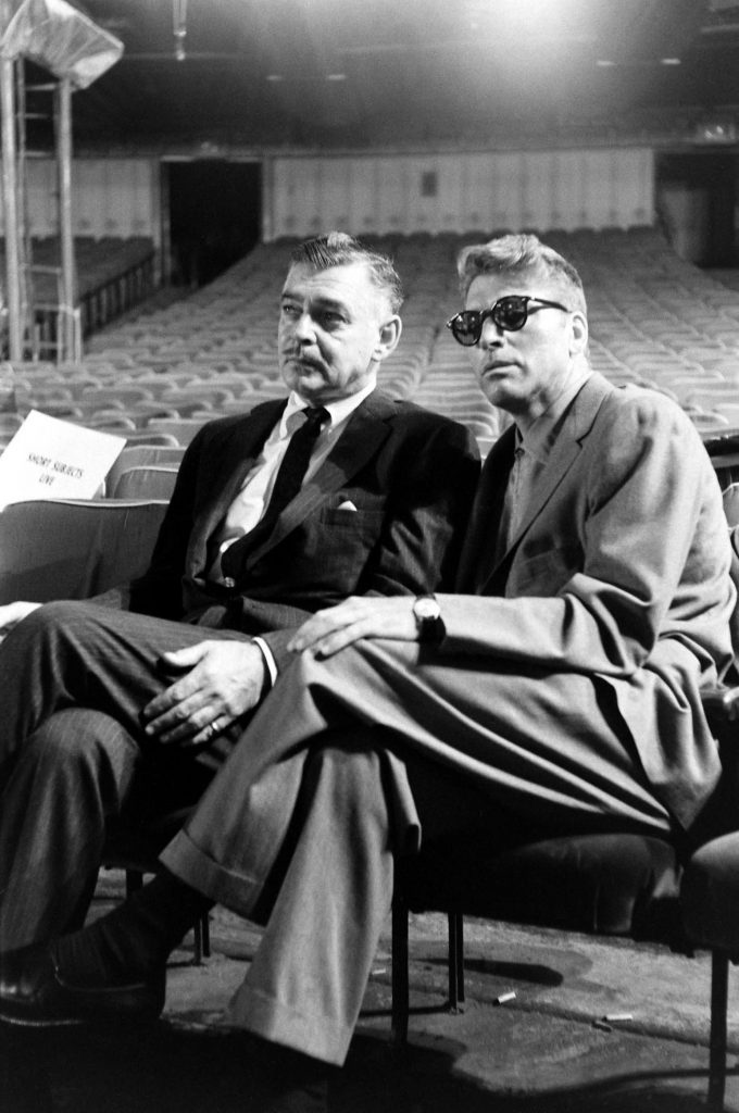Clark Gable and Burt Lancaster