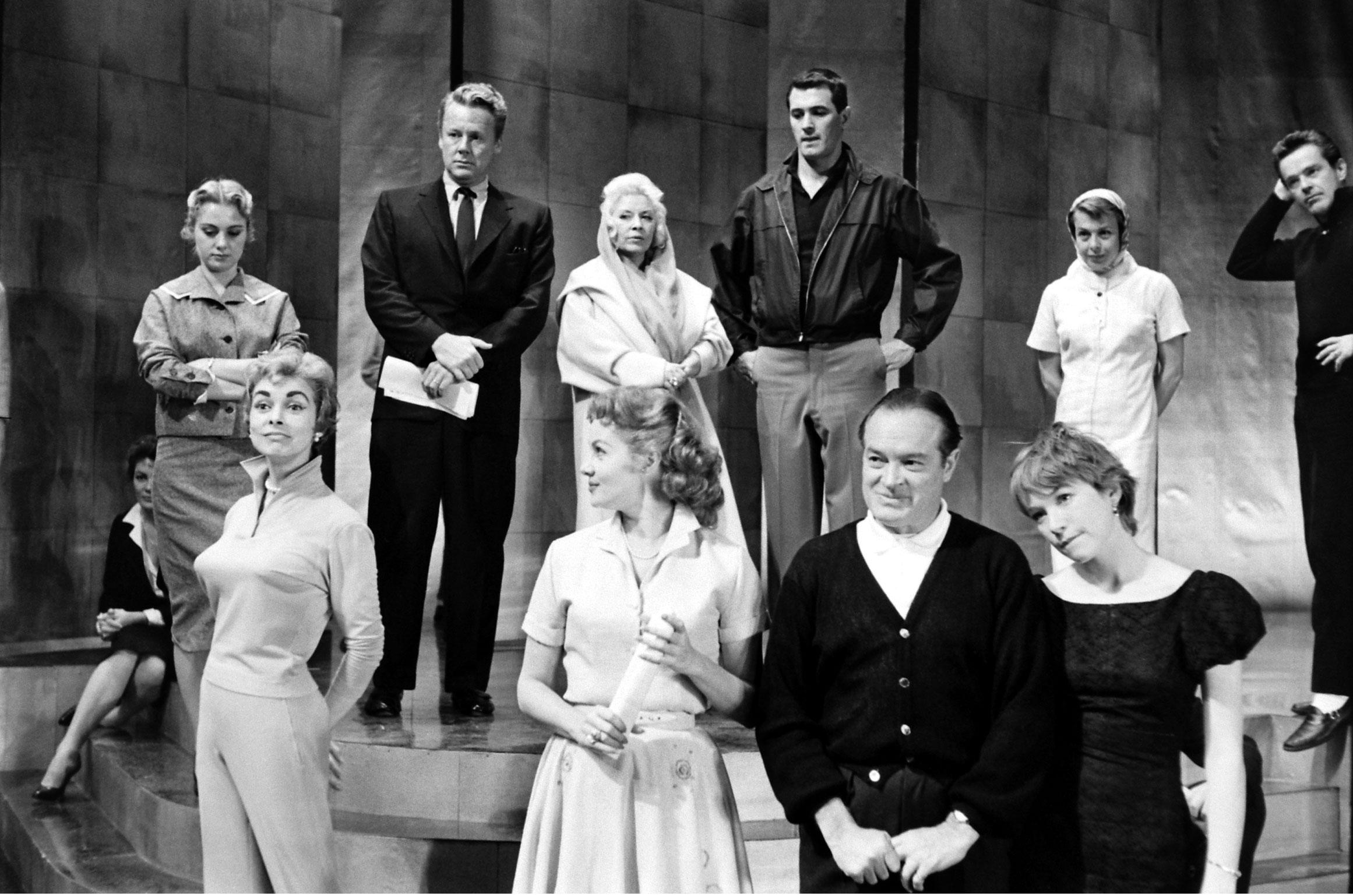 Shirley Jones, Van Johnson, Mae West, Rock Hudson, Marge Gower Champion, Janet Leigh, Rhonda Fleming, Bob Hope, Shirley MacLaine