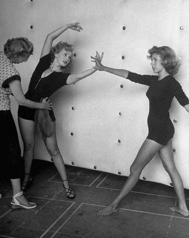 Zsa Zsa Gabor with Betsy von Furstenberg, California, 1951.