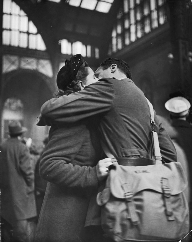 Farewell to departing troops at New York's Penn Station, April 1943.