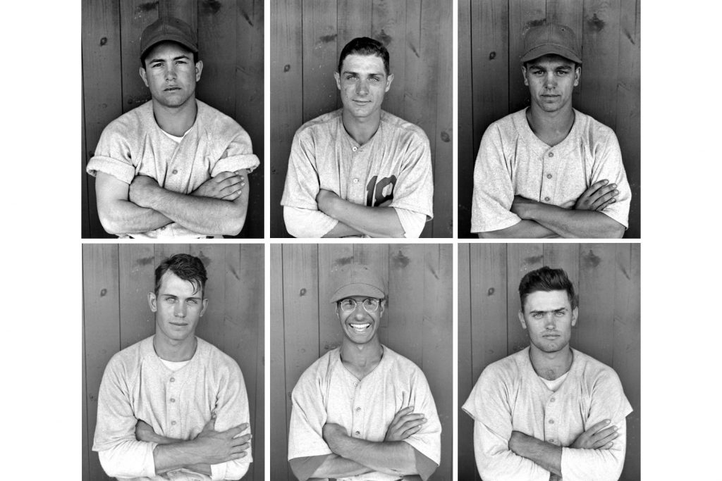 Top row, l-r: Outfielder Vic Marasco, catcher Dick Ballestrini, outfielder (and future Hall of Fame manager) Dick Williams; bottom, first baseman Dee Fondy, infielder Jim Baxes, catcher Mervin Dornburg.