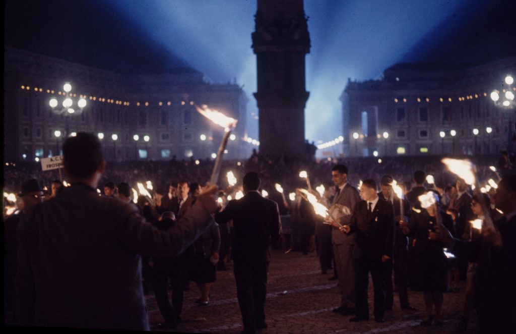 Scene in Rome during the Second Vatican Ecumenical Council, 1962.